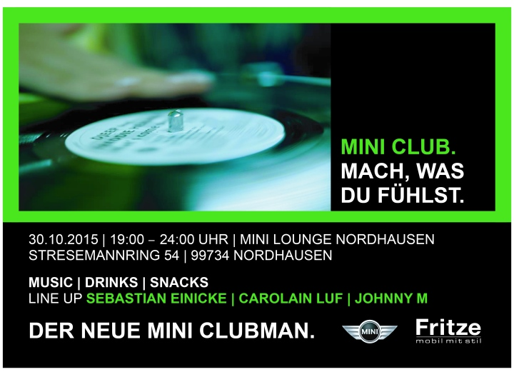 Fritze_Flyer MINI Club Night